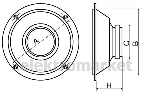 rozmiary głośnika HA-1008