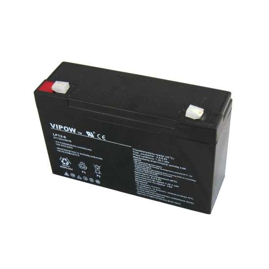 akumulator żelowy 6V 12Ah Vipow BAT0102