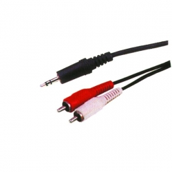 Kabel JACK 3,5mm - 2 x RCA 5m